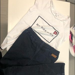 Burberry shirt and pants set